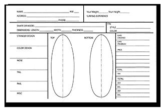 Kimo's Surf Hut Order Form